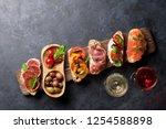 brushetta or traditional... | Shutterstock . vector #1254588898