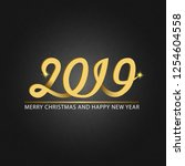 happy new year and merry... | Shutterstock .eps vector #1254604558