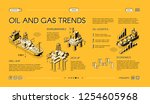 oil and gas industry trends... | Shutterstock .eps vector #1254605968