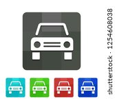 taxi   app icon | Shutterstock .eps vector #1254608038