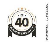 birtday vintage logo template... | Shutterstock .eps vector #1254618202