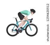 cycling  cartoon road cyclist... | Shutterstock .eps vector #1254620512