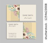 business card with beautiful... | Shutterstock .eps vector #1254623008