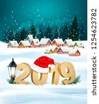 holiday christmas background... | Shutterstock .eps vector #1254623782