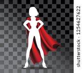 cartoon super hero cape on... | Shutterstock .eps vector #1254627622