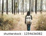 young asian travel backpacker... | Shutterstock . vector #1254636082