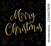 merry christmas greeting vector ... | Shutterstock .eps vector #1254637858
