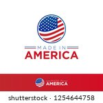 made in america vector icon | Shutterstock .eps vector #1254644758
