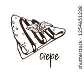 vector logo for french crepe... | Shutterstock .eps vector #1254651238