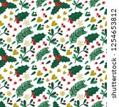 seamless pattern with berries ...   Shutterstock .eps vector #1254653812
