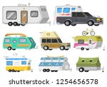 a set of trailers or family rv... | Shutterstock .eps vector #1254656578