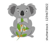koala eating branch eucalyptus | Shutterstock .eps vector #1254673822
