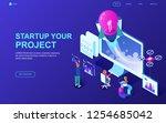 modern flat design isometric... | Shutterstock .eps vector #1254685042