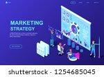 modern flat design isometric... | Shutterstock .eps vector #1254685045
