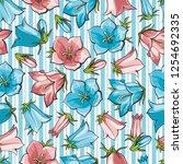 vector bellflower blossoms... | Shutterstock .eps vector #1254692335