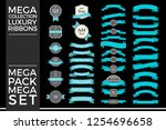 beautiful set and pack luxury... | Shutterstock .eps vector #1254696658