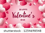 happy valentine's day.  design...   Shutterstock .eps vector #1254698548