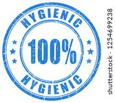 hygienic vector stamp isolated... | Shutterstock .eps vector #1254699238