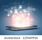 modern communication technology ... | Shutterstock . vector #125469926