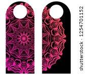 door hanger tags for room in... | Shutterstock .eps vector #1254701152