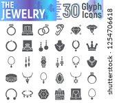 jewelry glyph icon set ... | Shutterstock .eps vector #1254706618