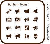vector icons pack of 16 filled... | Shutterstock .eps vector #1254707215
