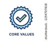 core values outline   line icon ... | Shutterstock .eps vector #1254707818