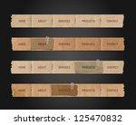 vector old paper navigation...   Shutterstock .eps vector #125470832