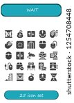 vector icons pack of 25 filled... | Shutterstock .eps vector #1254708448