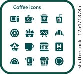 vector icons pack of 16 filled... | Shutterstock .eps vector #1254713785