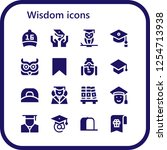 vector icons pack of 16 filled... | Shutterstock .eps vector #1254713938