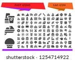 vector icons pack of 120 filled ... | Shutterstock .eps vector #1254714922