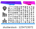 vector icons pack of 120 filled ... | Shutterstock .eps vector #1254715072