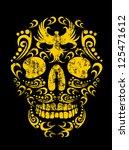 tattoo skull vector art | Shutterstock .eps vector #125471612