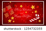 merry christmas and happy new... | Shutterstock .eps vector #1254732355