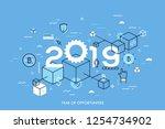infographic concept  2019  ... | Shutterstock .eps vector #1254734902
