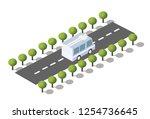 city boulevard isometric avenue.... | Shutterstock .eps vector #1254736645