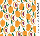 seamless pattern with fruits....   Shutterstock .eps vector #1254740962