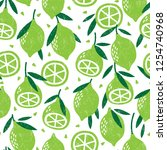 seamless pattern with fruits....   Shutterstock .eps vector #1254740968