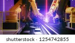 smart automation industry robot ... | Shutterstock . vector #1254742855