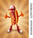 hot dog cartoon | Shutterstock .eps vector #1254748342
