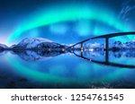 Bridge And Aurora Borealis Ove...