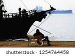 view of the walking dock in the ... | Shutterstock . vector #1254764458