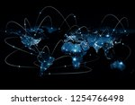 physical world map illustration.... | Shutterstock . vector #1254766498