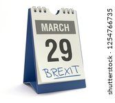 brexit   29 march  3d...   Shutterstock . vector #1254766735