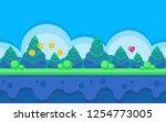 pixel art seamless background....   Shutterstock .eps vector #1254773005
