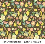 seamless background with...   Shutterstock .eps vector #1254775195