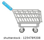 vector illustration of the shop ... | Shutterstock .eps vector #1254789208