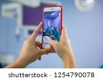 assistant shooting on the... | Shutterstock . vector #1254790078
