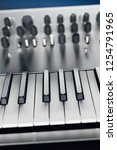 metallic analog synthesizer ... | Shutterstock . vector #1254791965